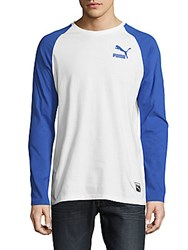 Puma Archive Cotton Raglan Sleeve Tee White