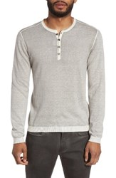 John Varvatos Men's Star Usa Henley Sweater Milk