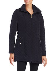 Gallery Hooded Quilted Coat Night Indigo