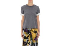 Marni Women's Cotton Tie Back T Shirt Grey