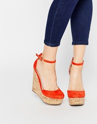 Asos Oval Wedges Red
