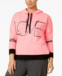 Material Girl Active Plus Size Turn It Up Graphic Hoodie Only At Macy's Flashmode