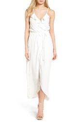 Everly Women's Ruffle Wrap Maxi Dress Off White