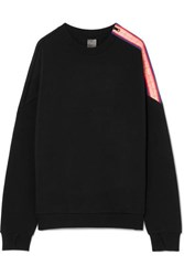 P.E Nation Major Win Oversized Zip Detailed Stretch Neoprene Sweatshirt Black
