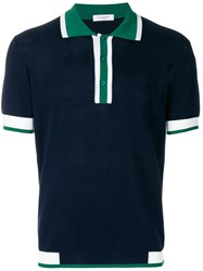 Paolo Pecora Knitted Polo Shirt Blue