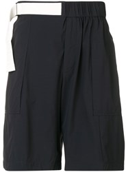 Emporio Armani Adjustable Track Shorts Black