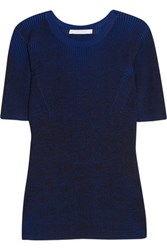 Dion Lee Ribbed Knit Sweater Blue