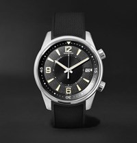Jaeger Lecoultre Polaris Date 42Mm Stainless Steel And Rubber Watch Black
