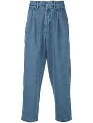 Second Layer Loose Denim Trousers Blue