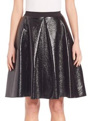 Marc Jacobs Pleather A Line Skirt Black
