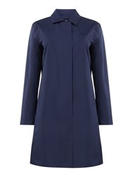 Gant Hooded All Weather Longline Coat Blue