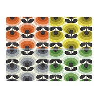 Orla Kiely 70S Oval Flower Placemats Set Of 4