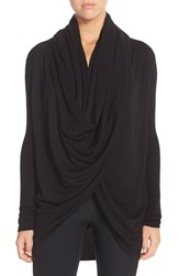 Nordstrom Women's Lingerie Long Wrap Cardigan Black