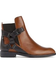 Swear Buckled Ankle Boots Brown