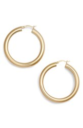 Argentovivo Argento Vivo Medium Hollow Hoop Earrings Gold
