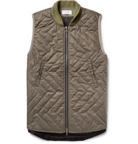 John Elliott Quentin Quilted Cotton Gilet Army Green
