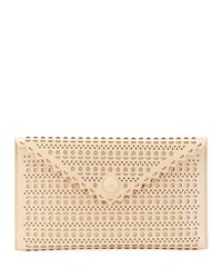 Alaia Louise Double Mini Clutch Bag Beige