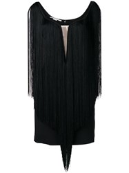 Stella Mccartney Isla Fringed Dress Black