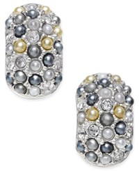 Charter Club Erwin Pearl Atelier For Silver Tone Multi Bead Huggy Hoop Earrings Only At Macy's