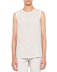 Akris Sleeveless Rubber Trim Blouse
