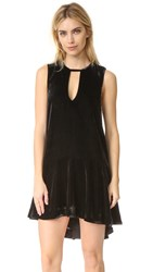Free People Soft Focus Velvet Dress Black