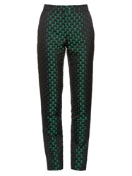 Mary Katrantzou Agate High Rise Jacquard Trousers