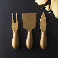 Helms Gold Cheese Knives Set Of 3