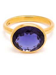 Marie Helene De Taillac 18Kt Gold And Iolite Ring