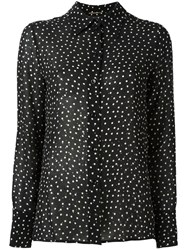 Saint Laurent Sequin Embellished Printed Shirt Black