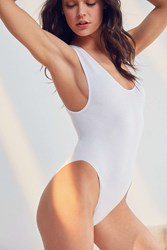 Out From Under Micah Seamless Ribbed Bodysuit White