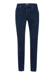 Topman Blue Navy Stretch Slim Jeans
