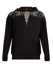 Marcelo Burlon Yago Hooded Cotton Jersey Sweatshirt Black White