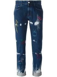 Stella Mccartney Embroidered 'Boyfriend' Jeans Blue