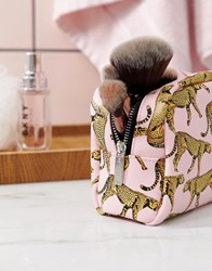 Skinnydip True Leopard Pink Make Up Bag
