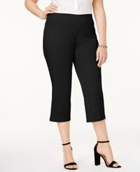 Jm Collection Plus Size Pull On Capri Pants Only At Macy's Deep Black