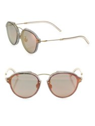 Christian Dior Eclat 60Mm Mirrored Oval Sunglasses Red Black Blue