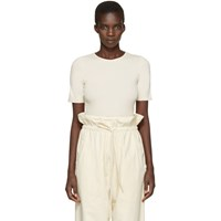 Lauren Manoogian Off White Cotton And Cashmere T Shirt