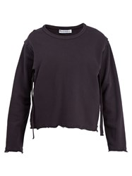 J.W.Anderson Raw Edge Cut Out Cotton Sweater Black