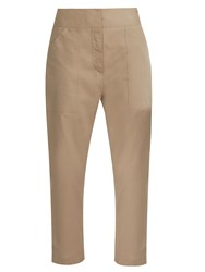 Adam By Adam Lippes Cropped Cotton Trousers Khaki