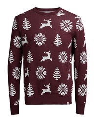 Jack And Jones Crewneck Printed Pullover Port Royal