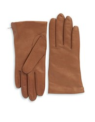 Lord And Taylor Cashmere Lined Leather Gloves Luggage