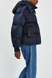 Boutique The Puffball Puffer Jacket By Navy Blue