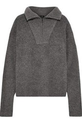 Line Agatha Ribbed Knit Sweater Anthracite