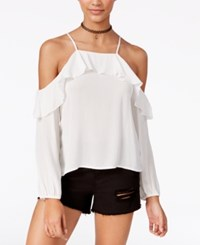 American Rag Off The Shoulder Ruffled Top Only At Macy's Egret