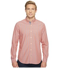 Nautica Long Sleeve Large Plaid Shirt Pale Coral Men's Long Sleeve Button Up Pink