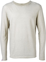 Massimo Alba Long Sleeve T Shirt Grey