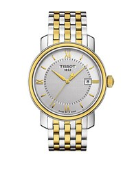 Tissot Mens Bridgeport Two Tone Stainless Steel Bracelet Watch