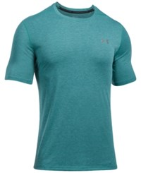Under Armour Men's Threadborne Performance 3 Color Twist Short Sleeve T Shirt Turquoise Sky