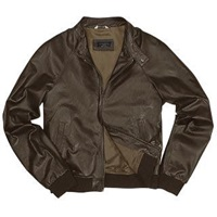 Forzieri Men's Dark Brown Italian Genuine Leather Bomber Jacket