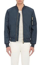 Ksubi Men's Mr. Shankley Nylon Bomber Jacket Navy